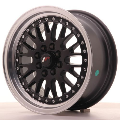 Japan Racing JR10 15x7 ET30 4x100/108 Black with machined lip